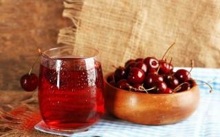 Польза и вред натурального вишнёвого сока, богатого антоцианами