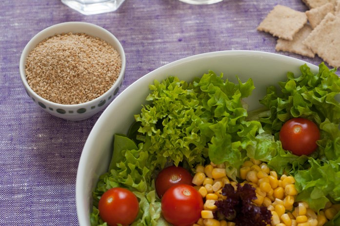 гомашио и салат