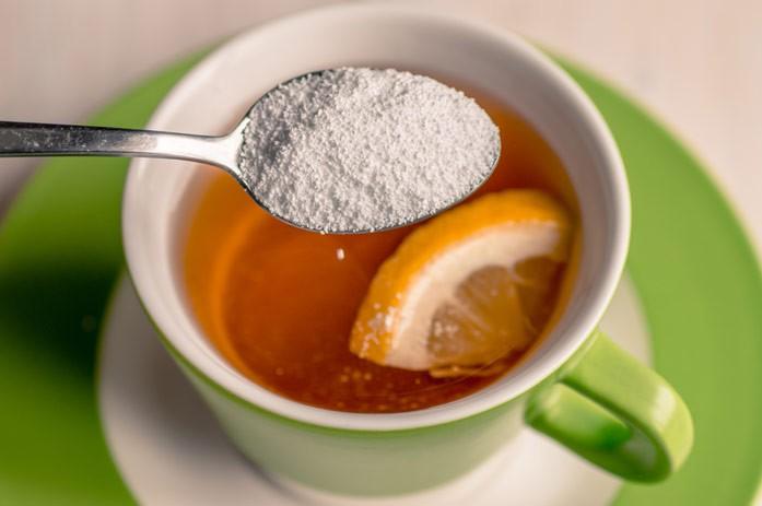 чай с сорбитом и лимоном
