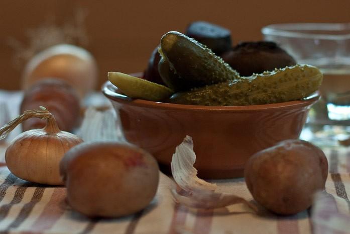 огурчики и картофель